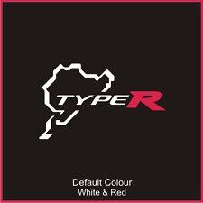 Honda Type R Nurburgring Circuit Decal, Track, Vinyl, Sticker, N2030
