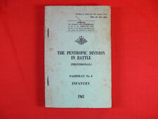 VINTAGE 1963 Aust Military Manual PENTROPIC DIVISION IN BATTLE Infantry RARE