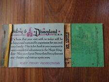 Vintage Disneyland Junior Mr. Lincoln Ticket In Ticket Book GUC