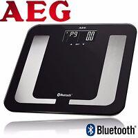 AEG 8in1 Personenwaage bis 150 kg Körperfett-Waage mit Bluetooth/App PW 5653 BT