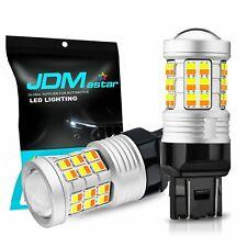 JDM ASTAR 2835 7443 7440 LED Switchback Dual Color White AmberTurn Signal Bulbs