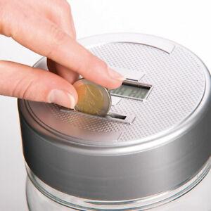 Salvadanaio Con Contamonete Automatico Forma Barattolo Display LCD Money Box LCD