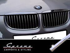 BMW 3er E90 E91 2005-2008 Chrom Zierleisten Set für die Kühlergrill Nieren 3M