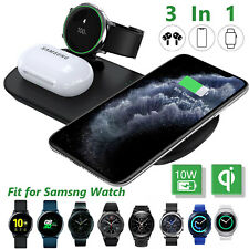 3 In 1 Qi Wireless Charger Dock Charging Pad For Samsung Galaxy Watch Active 2
