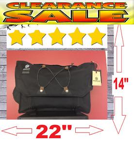 Messinger Bag Laptop Tote Cross Body School color BLACK Canvas Bag Excellent