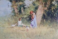 Robert Hagan, Without a Care, Bush Setting with young Girls, Large L.E. no. 33/9