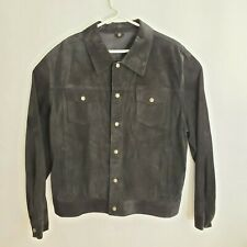 METROPOLITAN Motorcycle Jacket XXLarge Black Suede Leather Western Style Coat
