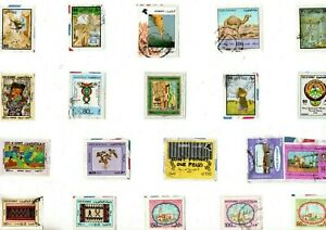 A LOVELY MIX OF ALL DIFFERENT KILOWARE STAMPS FROM KUWAIT