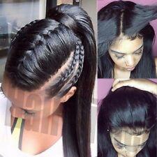 100% Brésilien Perruque Cheveux Humain Réel Remi Complet Attache À L'avant