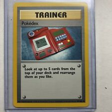 Rare 1st Edition Pokedex Pokémon Card 87/102 Great Condition (Pokédex)