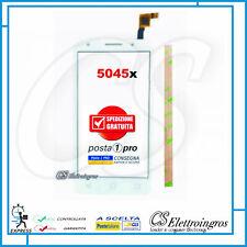 "Alcatel One Touch Pixi 4 5"" 4G OT-5045D 5045 5045x Vetro Touch screen bianco +bi"