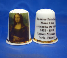 Birchcroft Thimble -- Famous Paintings - Mona Lisa by Leonardo Da Vinci