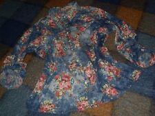 camisa como vaquera con flores marca Nymphaea Alba colores vario botones perlas