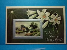 """1900'S EMBOSSED """"TO WISH YOU A HAPPY EASTER"""" POST CARD, CIRCA 1909   (16R1659)"""