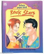Vtg New 1992 Rock Star Paper Doll (Concert) Golden Book / Booklet
