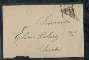 BOLIVIA COVER (P1308B)  10C  BISECT COVER TO SORATA