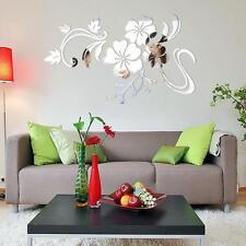 Mirror Acrylic Art Vinyl Sticker 3D Wall Stickers DIY Home Mural Decor Removable