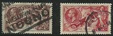 Great Britain Scott #222-23, Singles 1934 Complete Set Fvf Used