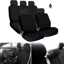 New Black Flat Cloth Car Truck Seat Covers Set Airbag Compatible For Hyundai