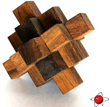 EMCsq - NEW Wood Puzzle Brain Teaser NEW Stocking Stuffers Noggin Busters