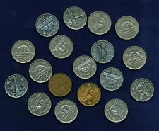 CANADA  GEORGE VI  5 CENT COINS: 1937-1952, GROUP LOT OF (18) DIFFERENT DATES!