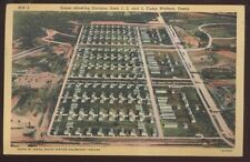 Postcard CAMP WOLTERS Texas/TX  Division Areas 1, 2, & 3 Aerial view 1940's