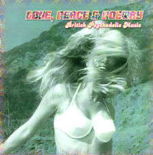 Love, peace & poetry – British psychedelic Music; with dark, dogfeet, pointue NEUF