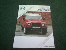 1987 1988 BEARMACH LAMP GUARDS LAND ROVER 88 109 90 110 NINETY ONE TEN Brochure