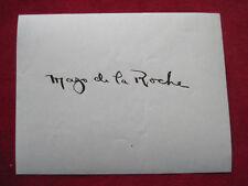 1930s MAZO DE LA ROCHE SIGNATURE SIGNED