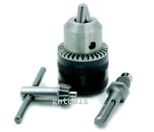 """REPLACEMENT KEYED DRILL CHUCK WITH SDS ADAPTOR SET 13mm 1/2"""" UNF FITTING NEW"""