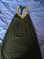 victoria secret BLACK dress MEDIUM SHELF BRA T-BACK BRONZE MATTE RHINESTONES