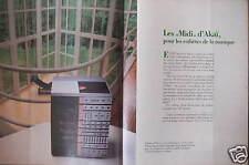 """PUBLICITÉ AKAÏ LES """"MIDI""""  PLATINE DISQUE POUR LES ESTHÈTES DE LA MUSIQUE"""