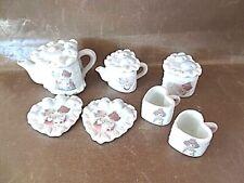 Miniature Tea Set - Precious Moments Heart-Shaped Pieces - Used 1995
