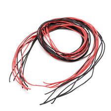 Black&red 22awg Gauge Silicone Wire Stranded Flexible Copper Cable 10 Feet FR RC