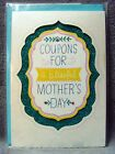 Hallmark•Signature Collection•Mothers Day•Card•Coupons for Mom Motif•Handmade