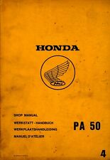 Honda PA50 PA 50 1982 Shop Manual