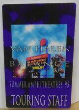 "Van Halen Laminated Backstage Pass ""Balance Summer Amphitheatres 95"""