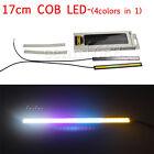 2pcs Super Bright Car COB LED colorful Light DRL Fog Driving Lamp Waterproof