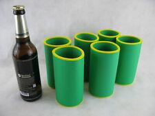 6er Set Getränkekühler 0,5L FLASCHE Bierkühler Neoprenkühler passgenau - Grün