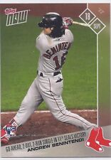 2017 TOPPS NOW #621 Andrew Benintendi Go-Ahead, 2 Out, 2-Run Single in 11th Seal