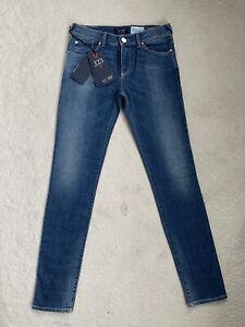 NEW Women's Ladies Armani J23 Lily Skinny Push Up Fit Stretch Jeans W24 (D103)