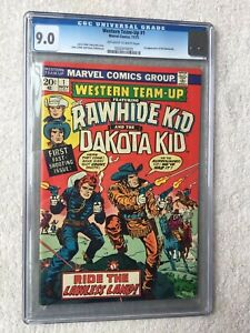 Western Team-up #1 FIRST APPEARANCE Nov 1973 CGC 9.0 VF/NM Off-white/White pages