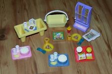 Mattel Barbie Doll Accessory LOT ACCESSORIES Dream House Trays Pizza & More