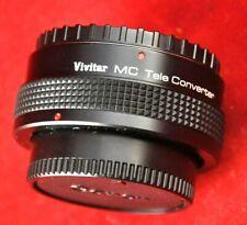 Vivitar MC Tele Converter 2x-4 FL-FO With Case And Lens Caps Teleconverter