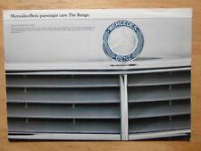 MERCEDES BENZ RANGE 1980 UK Mkt Brochure - SL SLC 500 SEL 380 SE 280 230 CE 250