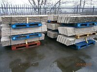 6ft x 1ft Rock Face Reinforced Concrete Gravel Boards and Concrete Posts