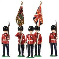 W Britain 49037 Archive Collection British 2nd Bn Scots Guards Colour Party 54mm