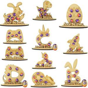 Personalised Easter Mini Creme Egg Holder Bunny Treat Kinder Gifts Kid Boy Girl
