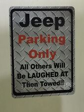 Jeep Parking Only Sticker 4x5.5  inches  Jeep Wrangler Cherokee Rubicon Liberty