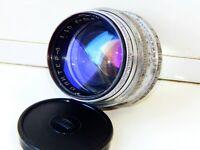 VERY RARE SILVER JUPITER 3 1,5/50mm Russian lens (Fed, Zorki, Leica) M39 RED P